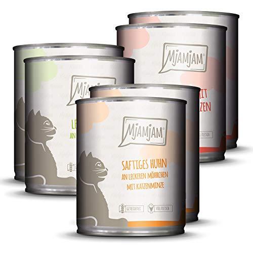 MjAMjAM - Premium Nassfutter für Katzen - Mixpaket 1 - Huhn,...
