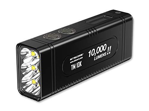 Nitecore Unisex– Erwachsene TM10K Lampen, schwarz, 11cm
