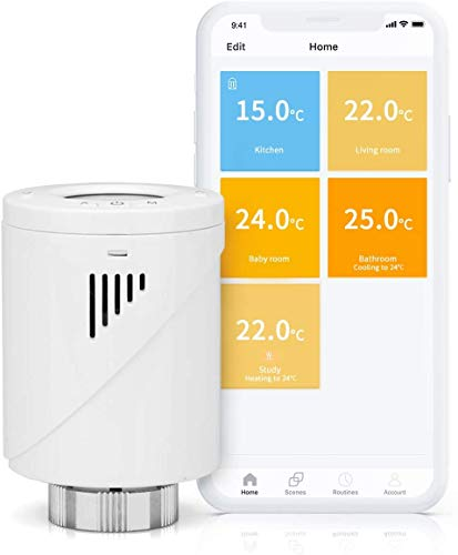 Smart Heizkörperthermostat, meross WLAN Thermostat, Intelligente Heizungssteuerung...