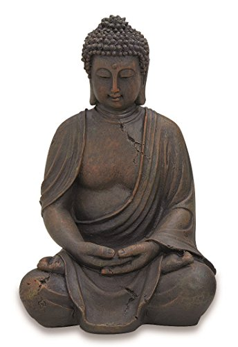 Deko-Buddha sitzend, ca. 40cm hoch in Braun | Buddha-Figur für...