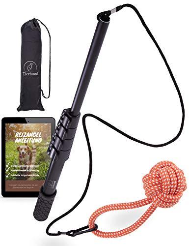 Tierhood ® Reizangel für große & kleine Hunde [stufenlos...