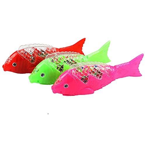 Doans Schwimmroboter Fischspielzeug mit LED-Licht Mini Aquarium...