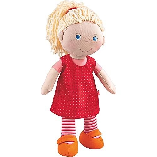 HABA 302108 - Puppe Annelie, Stoffpuppe mit Kleidung und Haaren,...