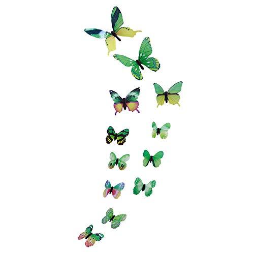 12 stücke leuchtende Schmetterling Design Aufkleber Wandsticker...