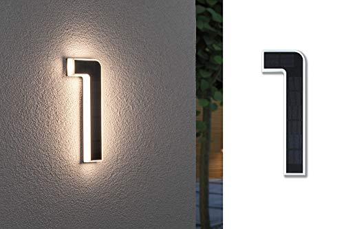 Paulmann 79842 LED Solar Hausnummer 1 IP44 Warmweiß Akku...