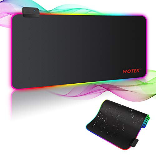 Gaming Mauspad RGB Mousepad XXL Groß 800x300 mm Mouse Pad Gaming mit 7 LED Farben 14...