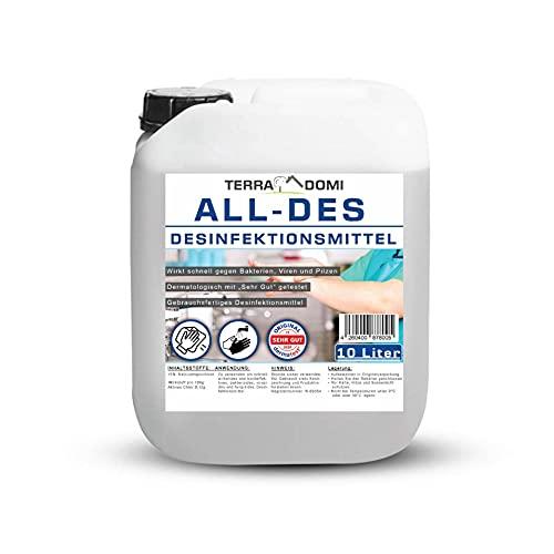 TerraDomi All-Des 10 Liter Desinfektionsmittel ohne Parfüm für...