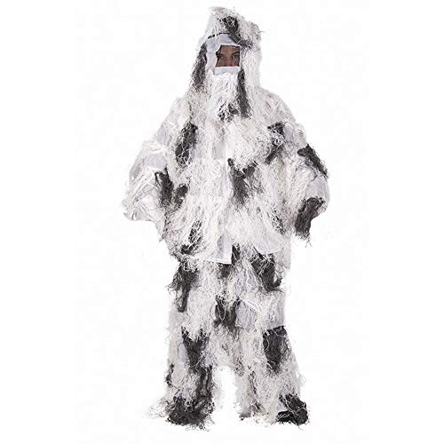 Mil-Tec Ghillie Suit Anti Fire 4PC. Basic Snow Gr. XL/XXL