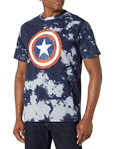 Marvel Herren Tropical Mickey-8 Hemd mit Button-Down-Kragen, Navy...