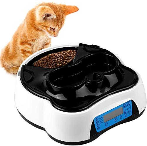 pedy 2 in 1 Futterautomat Katze, Hund Automatischer Futterspender...