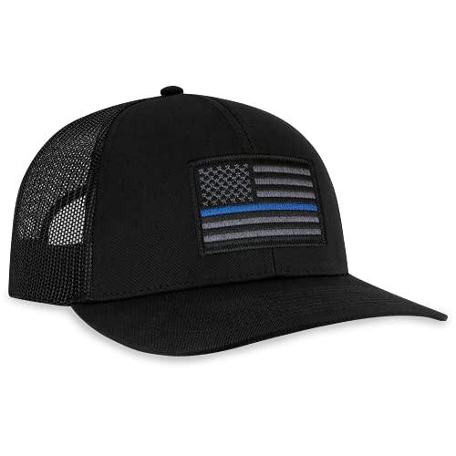 Thin Blue Line Hat - Blue Line Trucker Hat Baseball Cap Polizei...