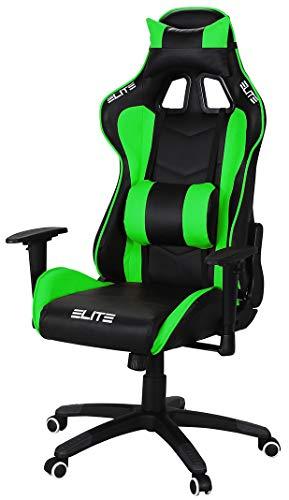 ELITE Racing Gaming Stuhl MG-200 - Bürostuhl – Kunstleder - Ergonomisch - Racer –...