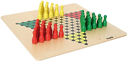 Bartl 107351 Brettspiel Halma groß aus Holz XXL Format 50cm x...