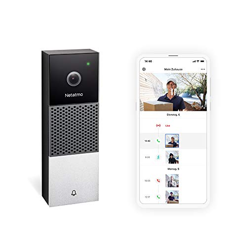 Netatmo Smarte Videotürklingel mit Kamera, WLAN, 2-Wege-Audio,...
