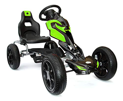 Kinder Pedal Go Kart - 5-12 Jahre, Mit Pedal, Shaum Reifen Eva...