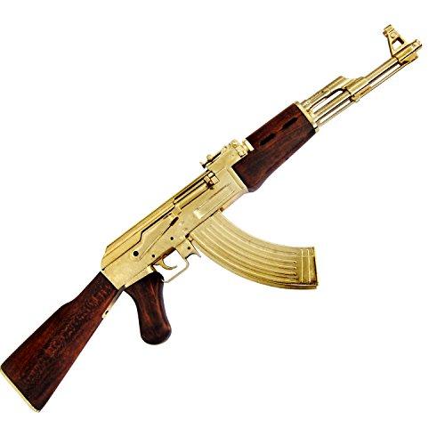 Dekowaffe Kalashnikov AK 47 incl. Magazin, Mod.1947 -vergoldet-