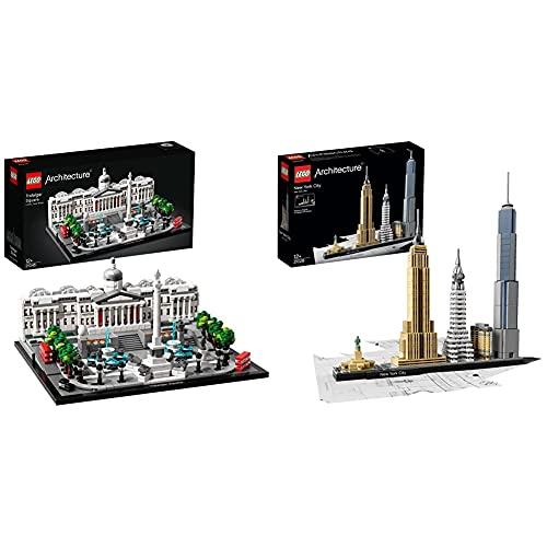 Lego 21045 Architecture Trafalgar Square & 21028 Architecture New...