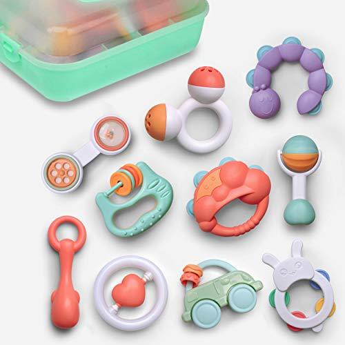GizmoVine 10pcs Rassel Baby , Greifling Baby Spielzeug,...