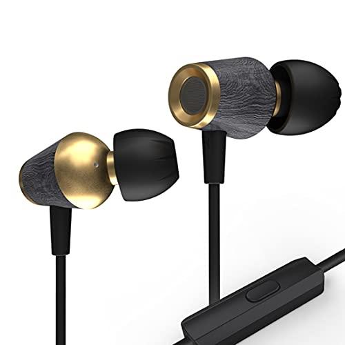 CCA CST In-Ear-Kopfhörer, Holz, leicht, Stereo, Sport, modisch,...