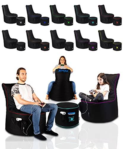 Maverick Gaming Set USB Ausgang Sitzsack mit Sitzhocker/Fußbank...