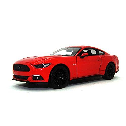 Ford Mustang GT, rot 2015 Maßstab 1:24 - Metall / Kunststoff -...