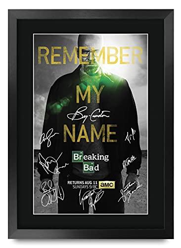 HWC Trading Breaking Bad A3 Gerahmte Signiert Gedruckt Autogramme...