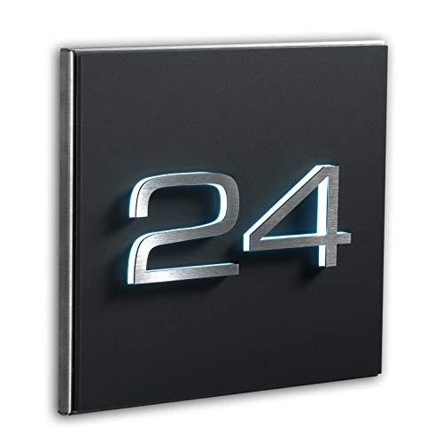 Metzler Individuelle Hausnummer matt in Anthrazit neu - 3D Design...