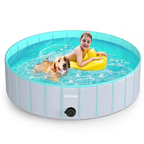 lunaoo Hundepool fur Große Hunde, Faltbare Schwimmbecken...