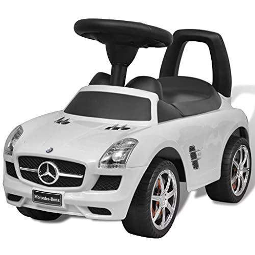 LONGMHKO Kinderfahrzeuge Mercedes Kinderauto Fußantrieb Weiß...