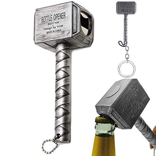 Thor Hammer Flaschenöffner & Mini Bieröffner, Mjolnir Hammer...