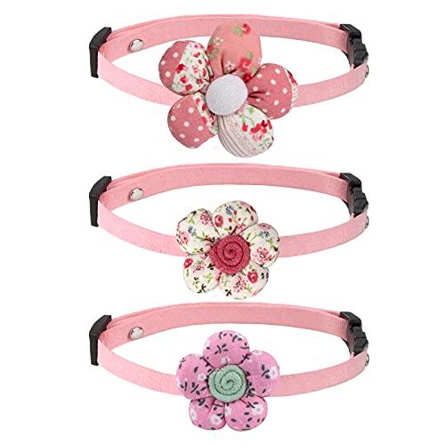 Katzenhalsband Blumen Haustier Halsband Süß Verstellbare...