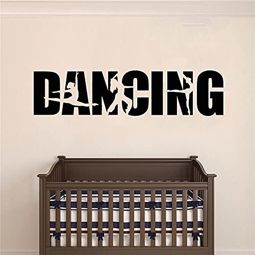 Vinyl Wandtattoo Tanz Wort Ballett Hip Hop Tänzerin Mädchen...
