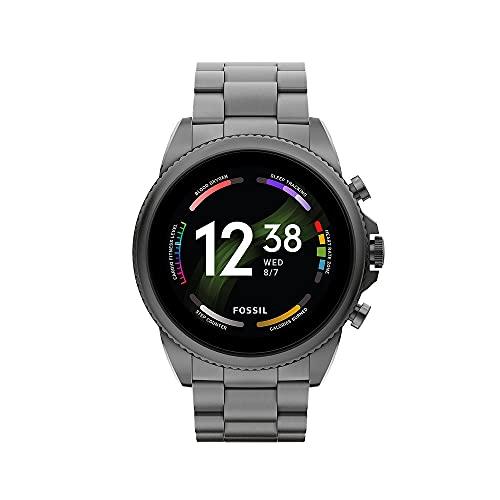 Fossil Gen 6 Herren-Smartwatch Edelstahl schwarz Edelstahlband...