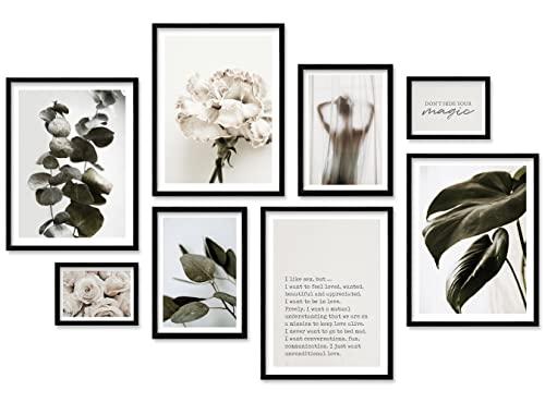 ARTFAVES® Poster Set - Aesthetic Plants | Wanddeko Wohnzimmer &...