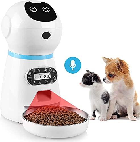 pedy Futterautomat Katze, Automatischer Futterspender Katze mit...
