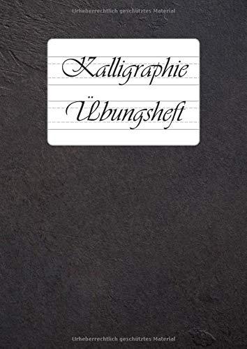 Kalligraphie Übungsheft: 9 verschiedene Lineaturen für...
