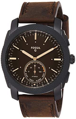 Fossil Herren Analog Quarz Uhr mit Leder Armband FTW1163