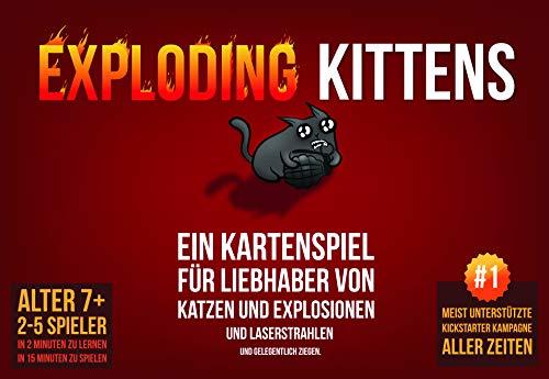 Asmodee Exploding Kittens, Grundspiel, Partyspiel, Kartenspiel,...