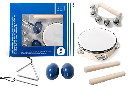 Kinder-Percussion-Set, Kinder Instrumente, 8-teilg aus Holz...
