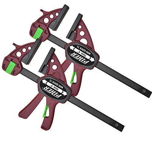 2 Stück Piher Mini Quick Einhandzwinge 30 cm Schraubzwinge Spann...