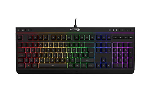 HyperX HX-KB5ME2-DE Alloy Core RGB Membrane Gaming Tastatur (QWERTZ deutsches Layout)...