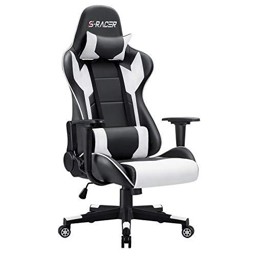 Homall Gaming Stuhl Bürostuhl Zocker Stuhl Ergonomischer Gamer...