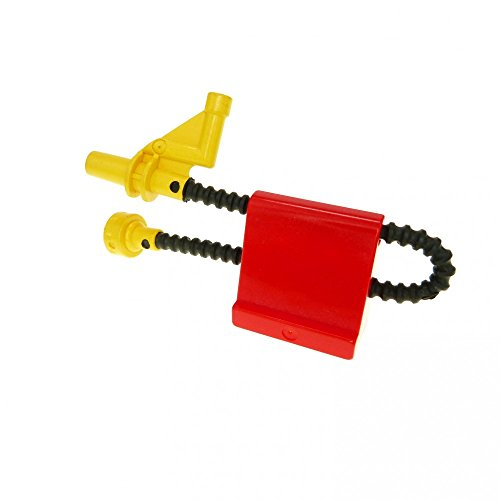 1 x Lego Duplo Schlauch gelb schwarz Düse Spritze mit Halter...