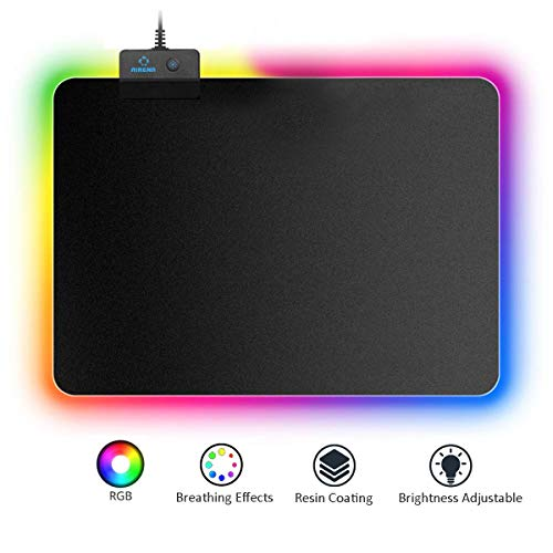 AIRENA RGB Gaming Mauspad mit 7 LED Farbe,14 Beleuchtungs Modus,...