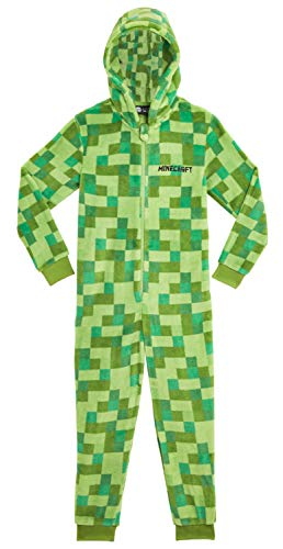 Minecraft Onesie, Jumpsuit Jungen, Kinder Schlafanzug, Super Soft...