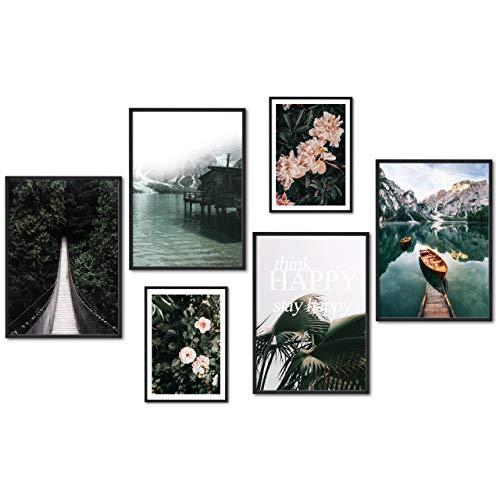 myestado® - Premium Poster Set Bilder Wohnzimmer Modern...