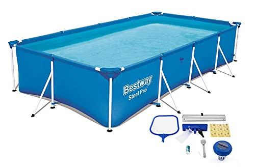 Bestway Steel Pro Pool mit Reinigungsset - Stahlrahmen - 300 x...