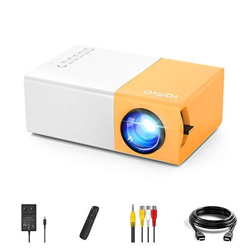 Mini Beamer, Vamvo YG300 Pro-Mini-Projektor, Tragbarer...