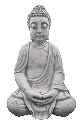 Massiver Steinguss Buddha für Garten & Terasse