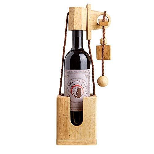 Casa Vivente Flaschenpuzzle aus hellem Holz, Geduldspiel,...